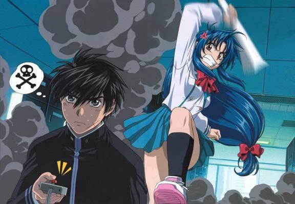 Sousuke is the Boke, while Kaname is the Tsukkomi (Full Metal Panic)